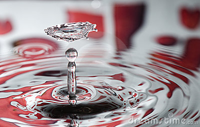 Red Valentine water drop