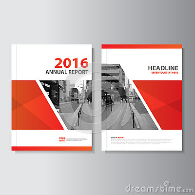 Free Red Vector Annual Report Magazine Leaflet Brochure Flyer Template Design, Book Cover Layout Design Stock Images - 67656464