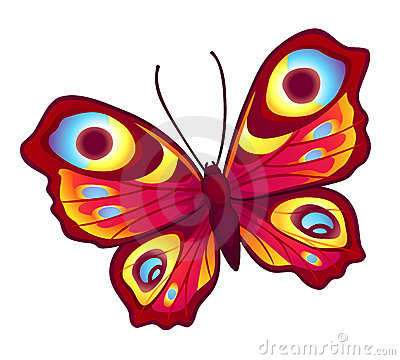 Red vector butterfly