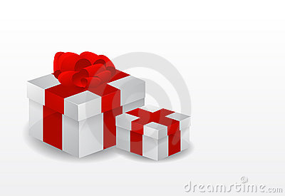 Red vector gift box