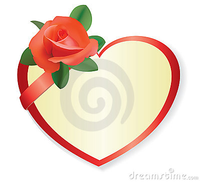 Free Red Vector Heart With Rose And Shadow Royalty Free Stock Image - 19177826