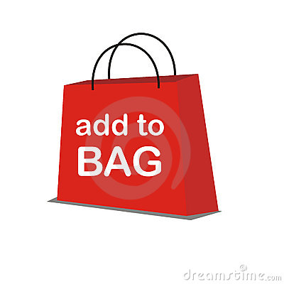 Red Vector Shopping Bag