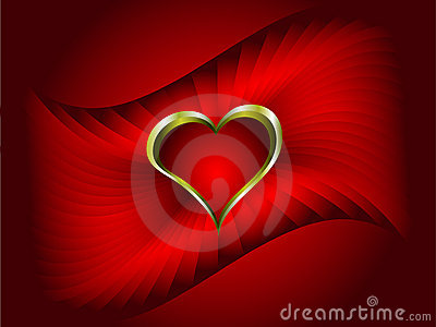 A red vector valentines background
