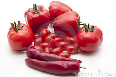 Red vegetables Stock Photo