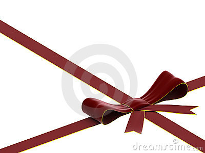 Red velvet bow and ribbon