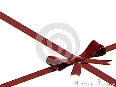 Red velvet bow and ribbon