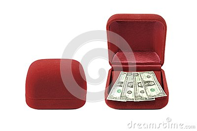 Red velvet box money red velvet box money