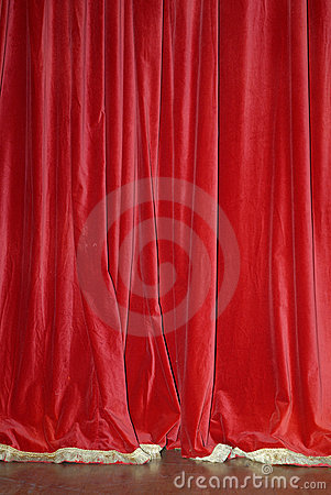 Red Velvet Curtains