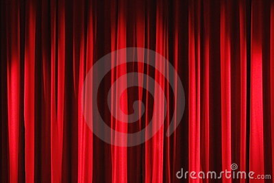 Red velvet drapes curtain