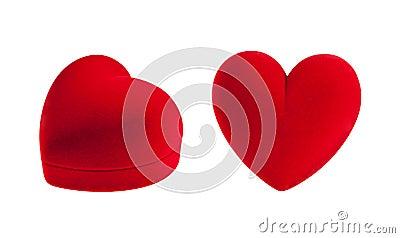 Red velvet heart box