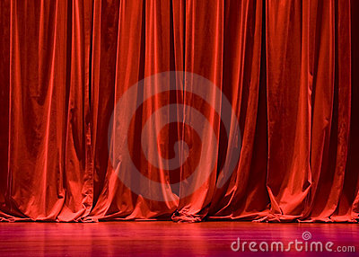 Red Velvet Stage Curtains