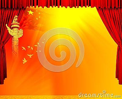 Red velvet theater courtains