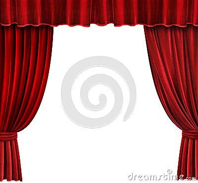 Rood fluweel theater gordijnen