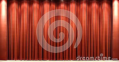Red velvet theatre courtain