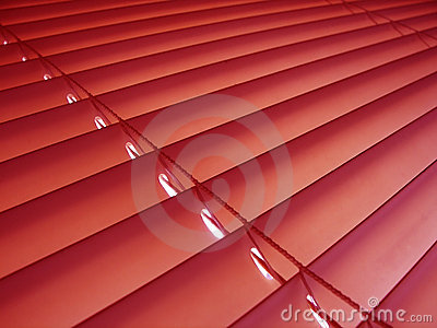 Window Blind Red Window Blinds Red Blinds Stock Photography Image 9060602