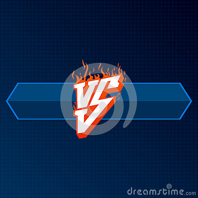 Free Red Versus Logo With Blue Board. VS Letters Illustration. Competition Icon. Fight Symbol. Stock Photography - 88269652