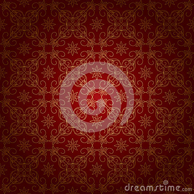 Free Red Vintage Background With Gold Ornament - Eps Stock Photo - 34894930