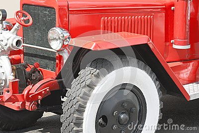 Red vintage fire truck