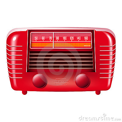 Free Red Vintage Radio-isolated On White Royalty Free Stock Images - 21800089