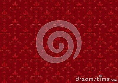 Red Vintage Seamless Pattern