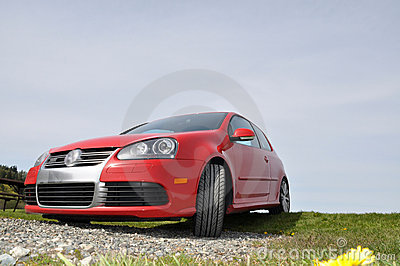 Red VW Golf R32