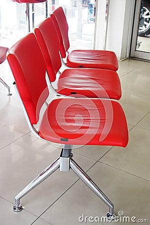 Red waiting seat