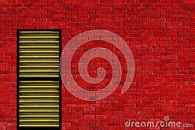 Red wall yellow door