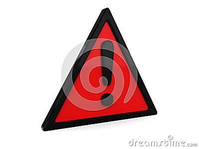 Red warning symbol