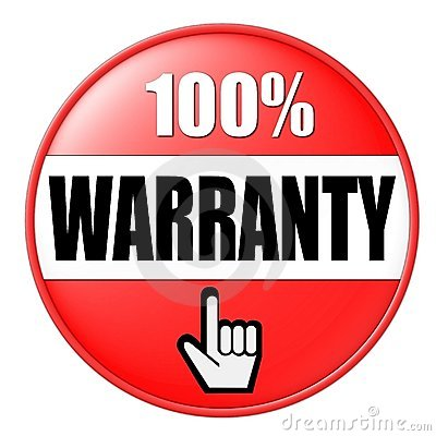 Red Warranty Button