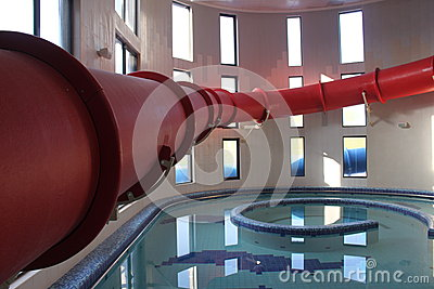 Red water slide