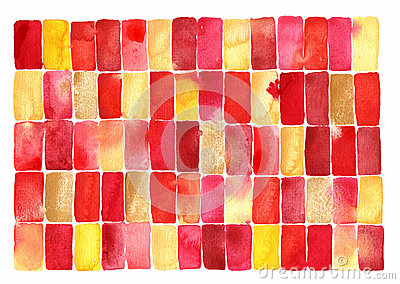 Red watercolour abstract painting