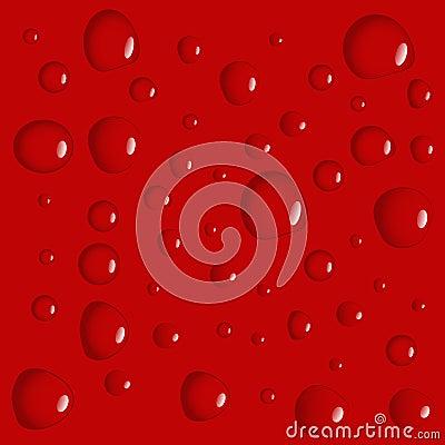 Red waterdrop background