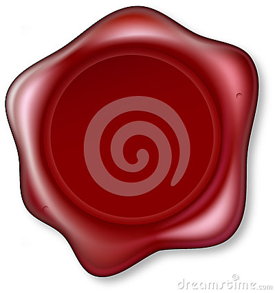 Red Wax Seal Stock Photos - Image: 25610413