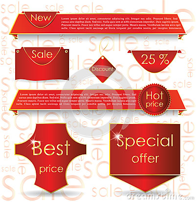 Red web design banner sale for website