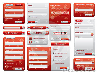 Red web form design christmas edition