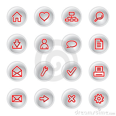 Free Red Web Icons Royalty Free Stock Photography - 2631147