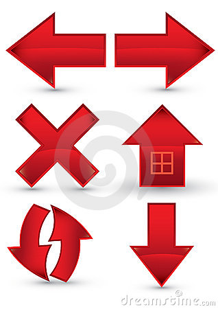 Red web navigation icon