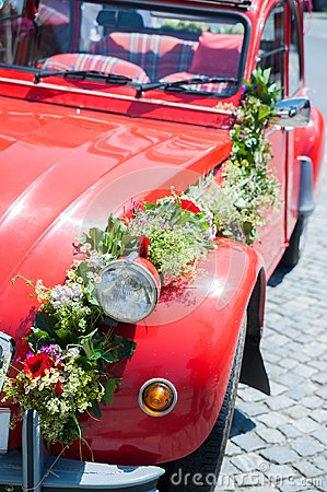 Red Wedding Car