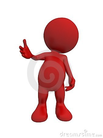 Red Welcome Character Person Stock Images - Image: 9786034