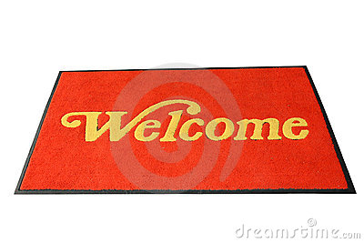 Red Welcome Mat