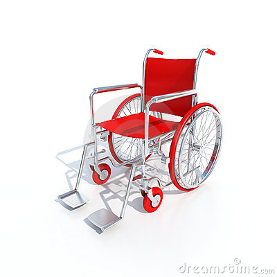 Red Wheelchair Stock Image Image 3446031