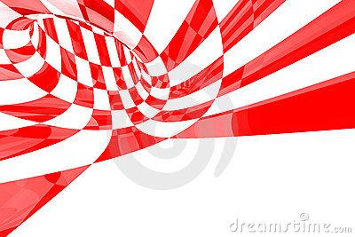 Red & White abstract
