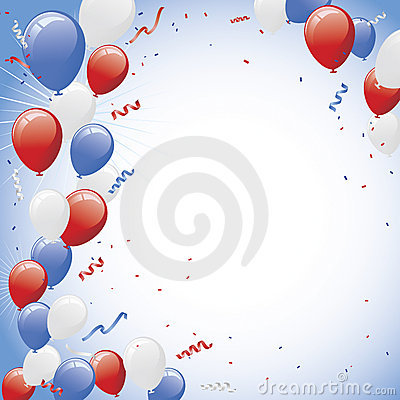 Red White Balloon Celebration Balloon Party