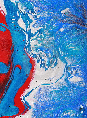 Red white and blue abstract