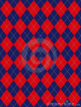 Red White and Blue Argyle