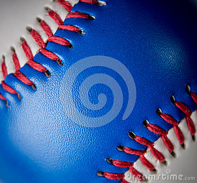 Red white and blue baseball