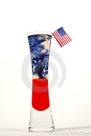 Red, White and Blue Drink