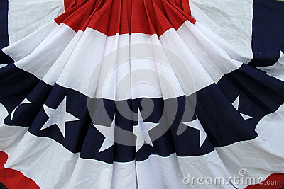 Red,white and blue of patriotic banner