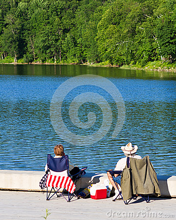 Red, white and blue picnic Editorial Image