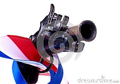 Red White & Blue Ribbon & Gun